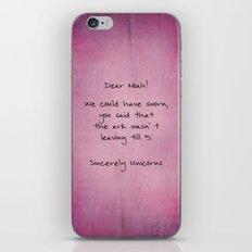 unicorns farewell - purple option iPhone & iPod Skin