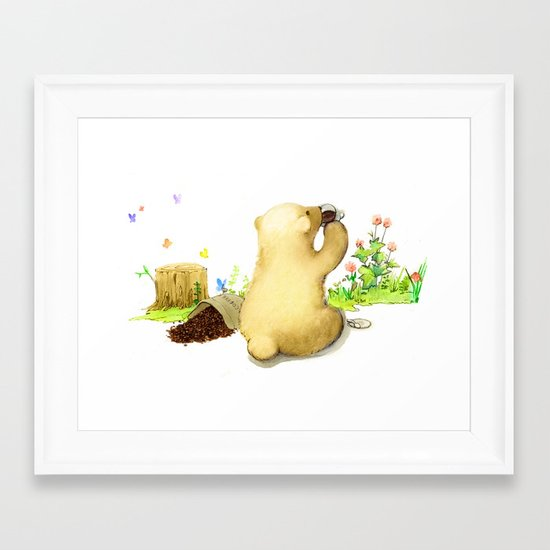 Coffee Bear Framed Art Print