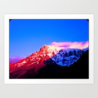 Red Mountain. Art Print