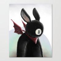Eightball demon Canvas Print