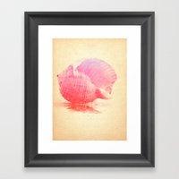 Pink Seashell Framed Art Print
