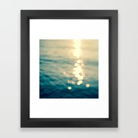 Blurred Tides Framed Art Print