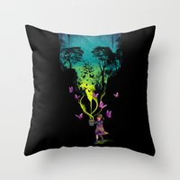 THE FORBIDDEN BUTTERFLIE… Throw Pillow