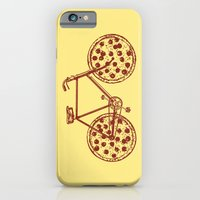 Bicycle with Pepperoni Pizza Tires iPhone 6 Slim Case