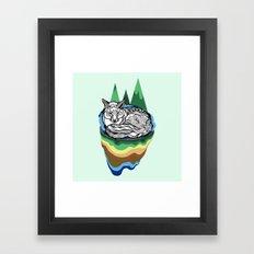 Snuggly fox Framed Art Print