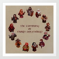 The Company of Thorin Oakenshield Art Print