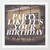 birthday Art Prints featuring birthday by Sarah Brust