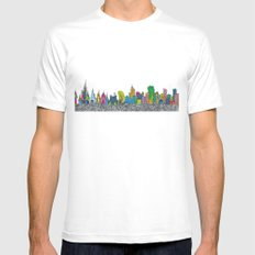 A night on the Town SMALL White Mens Fitted Tee