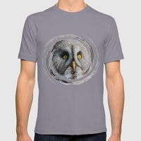 MOON OWL Mens Fitted Tee Slate SMALL