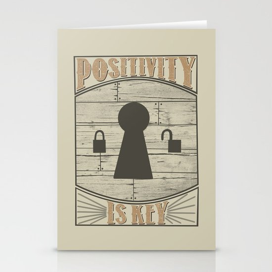 Positivity Is Key v.2 Stationery Card