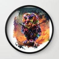Brave Little Owl Wall Clock