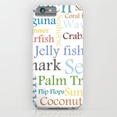 Beach Theme iPhone 6 Slim Case