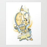 Honeysiiickle Art Print