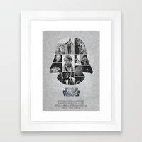 A New Hope COLLAGE Varia… Framed Art Print