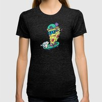 Pizza and Ranch Womens Fitted Tee Tri-Black SMALL