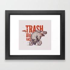 Trash BIG RACE Framed Art Print