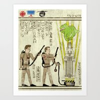 Hero-glyphics: Slimed Art Print