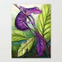 Satanic Leaf-Tailed Gecko Canvas Print
