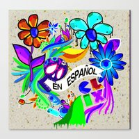 En Español! Canvas Print