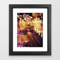 Blurred Lights Framed Art Print