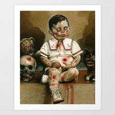 Zombie Boy Art Print