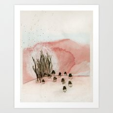 something new was discovered. Art Print