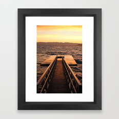 Willingdon Dock Framed Art Print
