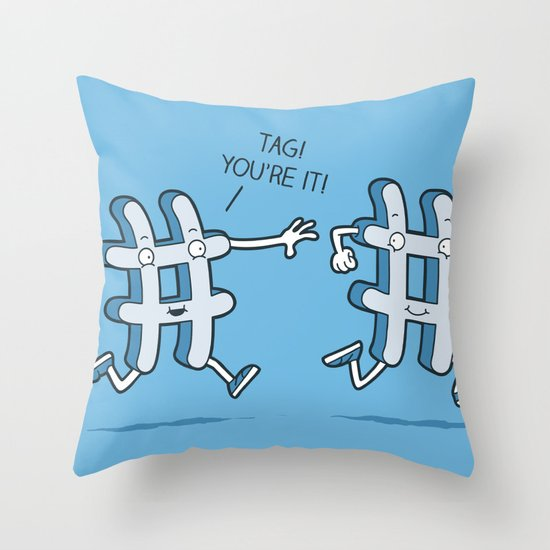 Hash Tag Throw Pillow