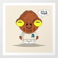 ChibizPop: It's a trap! Art Print
