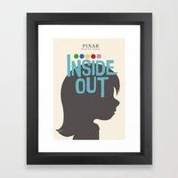 Inside Out - Minimal Movie Poster Framed Art Print