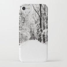snowy woods iPhone 7 Slim Case