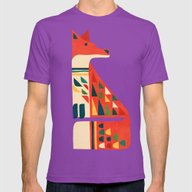 Century Fox Mens Fitted Tee Ultraviolet SMALL