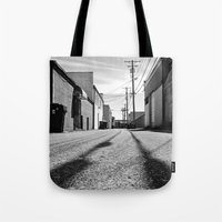Alleyway shadows Tote Bag