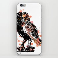 Owl With Ink iPhone & iPod Skin