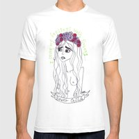 Flowers In My Head Mens Fitted Tee White SMALL