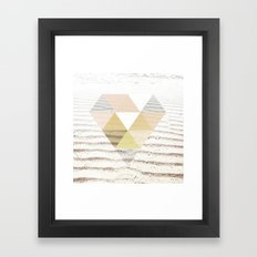 Beach Diamond Framed Art Print