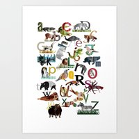 Animal ABC Art Print