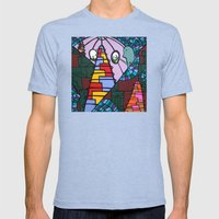 WE MISS YOU HERE in MERMAN LAND Mens Fitted Tee Tri-Blue SMALL