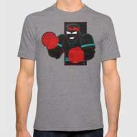 Boxing Gloves Mens Fitted Tee Tri-Grey SMALL