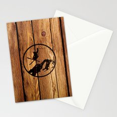 skiing 3 Stationery Cards