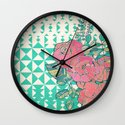 Triangles & Roses  Wall Clock