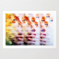 Eyes like Butterflies Art Print
