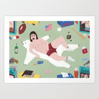 Sexy Bachelor Pattern Art Print
