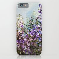 Floral Garden Impressionism in Pretty Purple iPhone 6 Slim Case