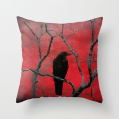 The Color Red Throw Pillow