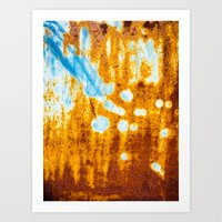 Rusted metal Art Print