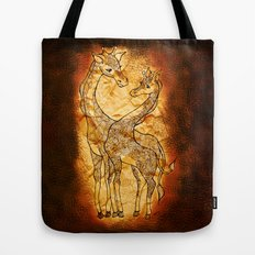 Henna Giraffe Tote Bag