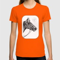Veloso Racehorse NZ Womens Fitted Tee Orange SMALL