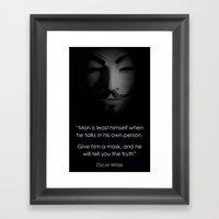 Men in a Mask Framed Art Print
