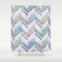 Lilli Chevron {light} Shower Curtain